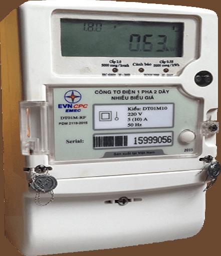 lắp đặt đồng hồ điện/công tơ điện 1 pha điện tử