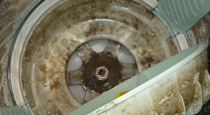 Lồng giặt bám bẩn