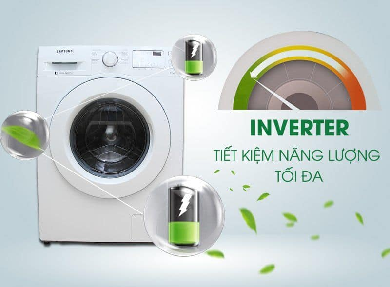 máy giặt trang bị công nghệ inverter